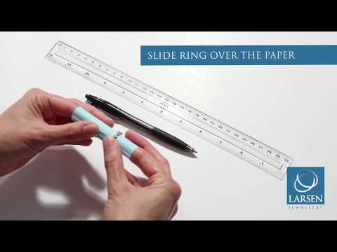 How to measure a finger size or ring size