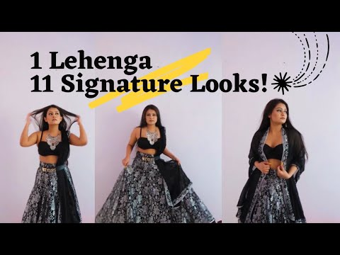 Celebrity inspired outfits : how to wear 1 lehenga in different styles