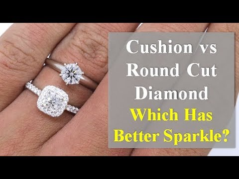 Cushion cut vs round cut diamond rings – how they will look on your hands