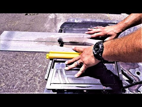 Testing the cheapest table tile saw on amazon