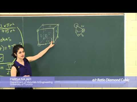 Calculation of the a-to-r ratio for diamond cubic