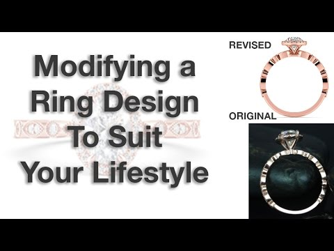 Modifying a diamond ring to suit your lifestyle