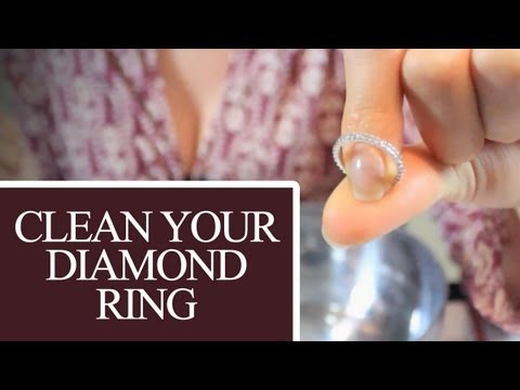 Clean your diamond ring! jewelry cleaning ideas that save time & money! (clean my space)