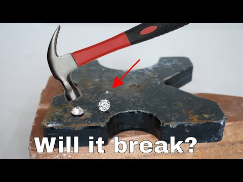 Can you break a diamond with a hammer?
