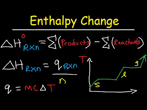 Enthalpy change of reaction & formation - thermochemistry & calorimetry practice problems