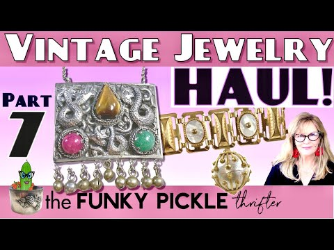 Part 7 antique & vintage jewelry haul how to identify old jewelry 101 learning education victorian