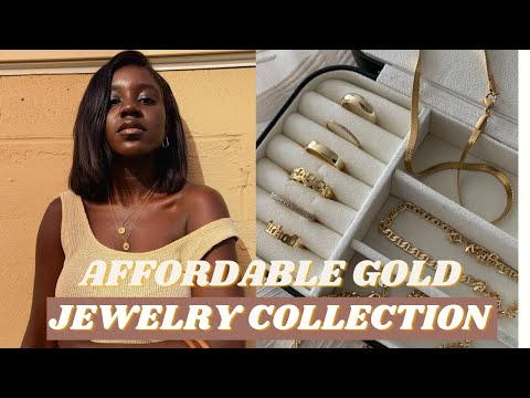 Affordable gold jewelry : my jewelry collection