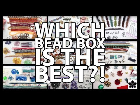 Which monthly bead & diy jewelry box is the best? slide-show