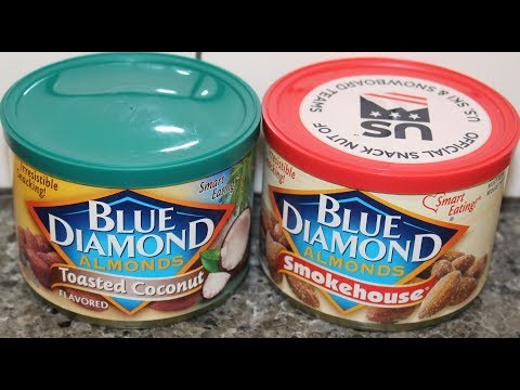 Blue diamond almonds: toasted coconut and smokehouse review