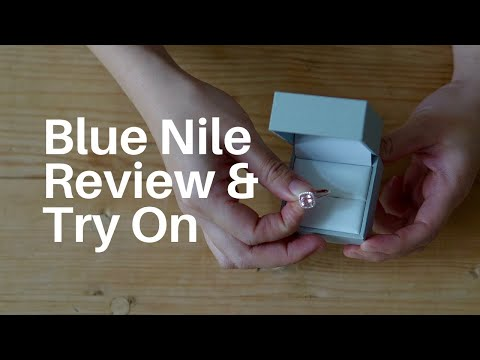 Most beautiful inexpensive engagement ring – blue nile review & unboxing – morganite cushion cut