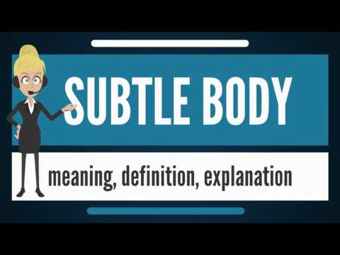 What is subtle ? what does subtle body mean? subtle body meaning, definition & explanation