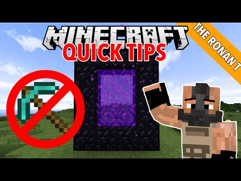 How to make a nether portal without using any diamonds! : minecraft quick tips