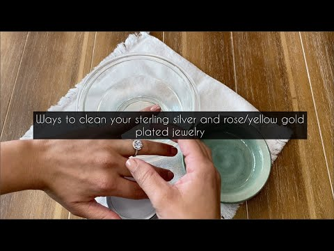 How to clean your sterling silver and rose/yellow gold plated jewelry