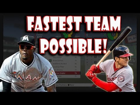 How many stolen bases can the fastest team in baseball steal? mlb the show 19