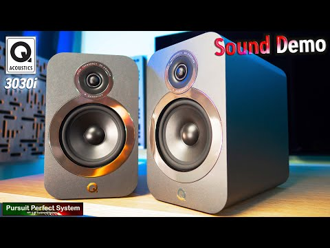 Q acoustics 3030i hifi speakers sound demo how good can £299 speakers sound?? review & group test