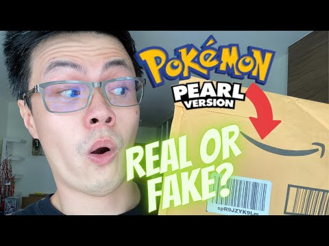 Amazon sold me a pokemon pearl ds game in 2021! real or fake?