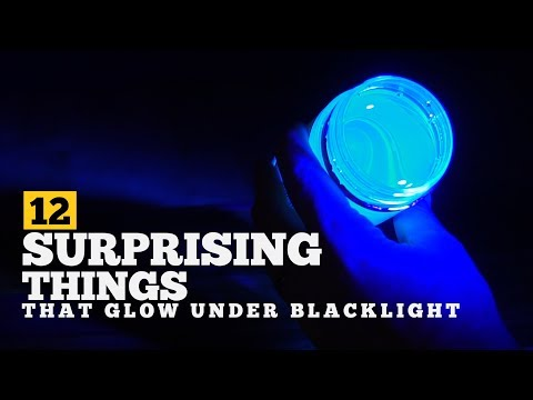 12 surprising things that glow under uv light   a blacklight experiment #blacklight #uvlight #glow