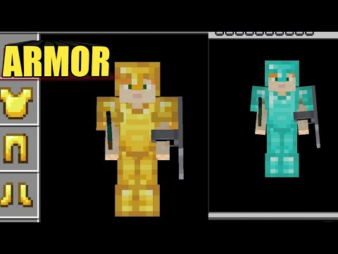 How to make diamond armor in minecraft !