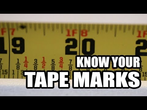 What the marks on a tape measure mean
