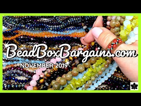 ✨november 2019   bead box bargains ✨online shopping ✨beaded jewelry making haul   closeout prices