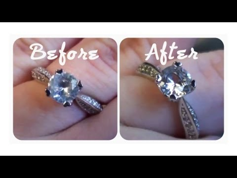 ☼ quick tip: how to make your engagement ring really sparkle! (cheap, easy & effective) ☼