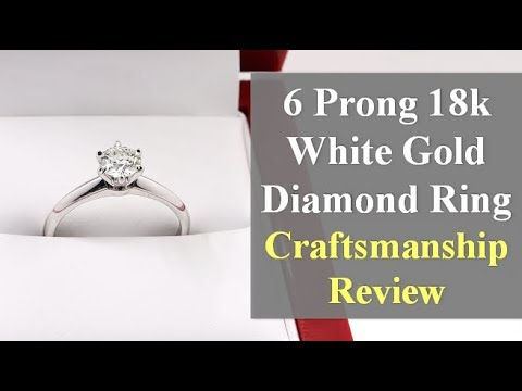6 prong solitaire diamond ring review (18k white gold)