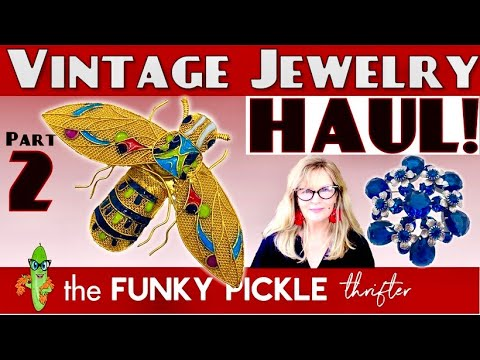 Part 2 antique & vintage jewelry haul victorian and more! how to identify old jewelry unboxing
