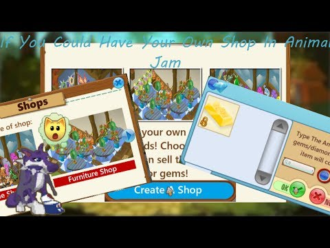 If you could sell items for diamonds and gems in animal jam (aj shop)