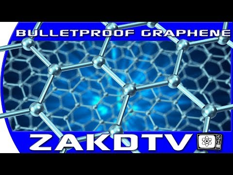 Scientists develop bullet proof graphene. this material becomes as hard as diamonds when hit.