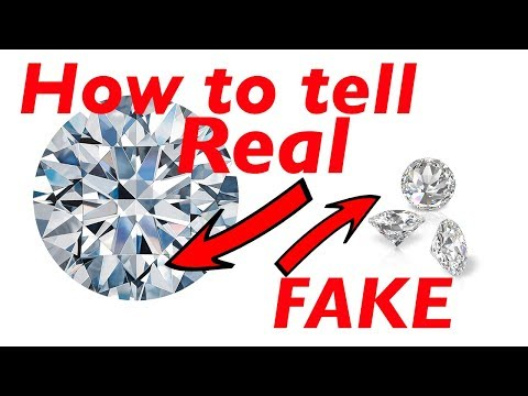 How to tell if a diamond is real or fake at home - quick and easy!