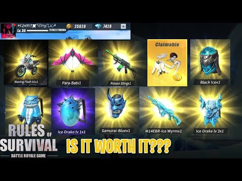 Spending 7,500 diamonds! is it worth it? - rules of survival (tagalog)