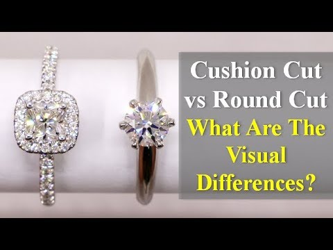 Cushion cut vs round cut diamond review – side by side performance