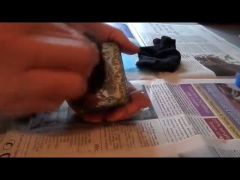 How to clean heavily tarnished antique silver