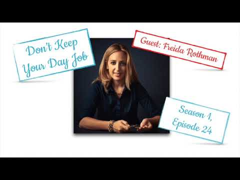 How to become a jewelry designer - freida rothman   don't keep your day job podcast