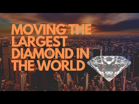 How did they safely transport the largest diamond (cullinan) in the world?
