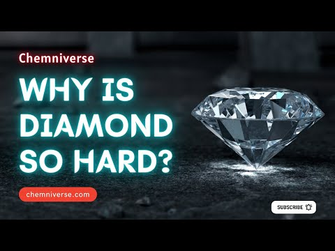 Why is diamond so hard? explained in a minute i chemniverse