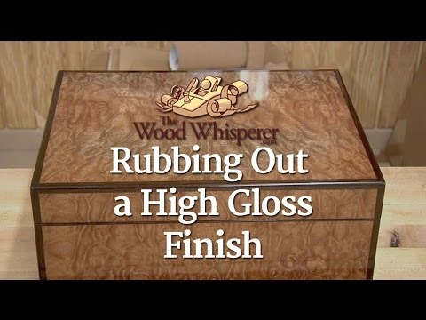 213 - rubbing out a high gloss finish