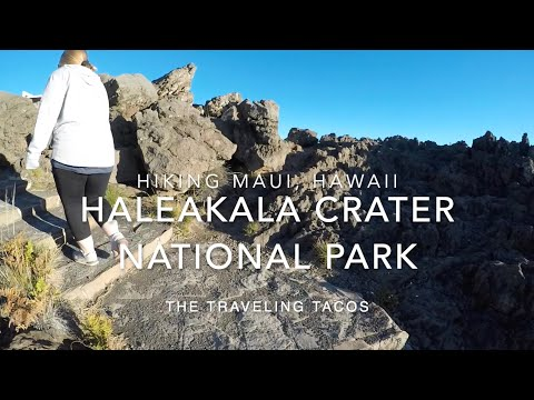 Hiking haleakala crater national park - the traveling tacos - watching the sunset over maui