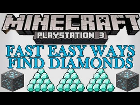 Minecraft wii u / ps3 / xbox - easy fast ways for how to find diamonds tutorial - playstation 3