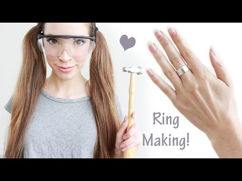 How to make a hammered sterling silver ring
