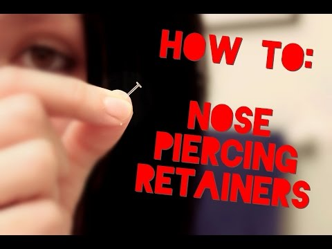 Putting in nose piercing retainers!   hide your piercings!