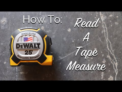 How to: read a tape measure
